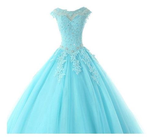 vestido xv años 15 años quinceaños nuevo azul lila morado