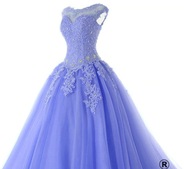 Vestidos de xv azul con morado