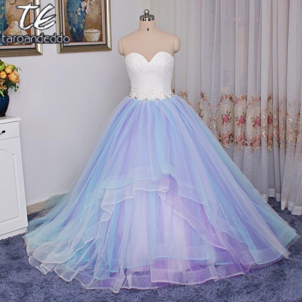 Vestido De 15 Blanco Y Azul Elegantes Vestidos De Noche