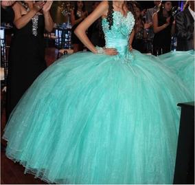 Vestido Xv Años 3pzas Talla 26 Color Menta 2 En Existencia