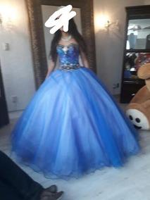 Vestido Xv Años Azul Rey Con Plateado Vestidos Vestidos De