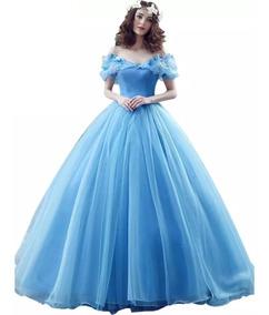 Vestido Xv Años Azul Envió Gratis Q 26240