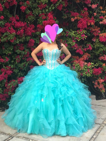Vestido Xv Años Azul Tifani