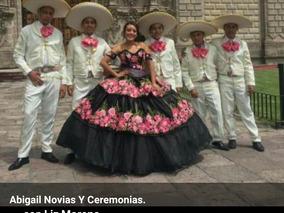 Vestido Xv Años Bordado Mexicano