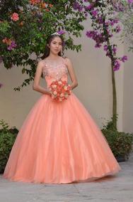Vestidos De Xv Tintos Vestidos De 15 Largo Coral Claro En