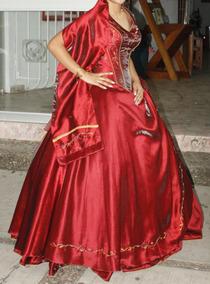 Vestido Xv Años Color Naranja Vestidos Bordó En Mercado