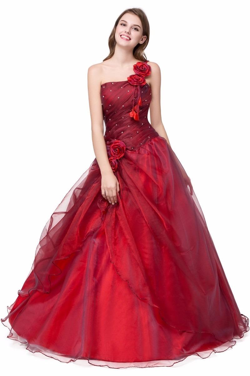 493264a74 vestido xv años color vino envio gratis cheap one shoulder. Cargando zoom.