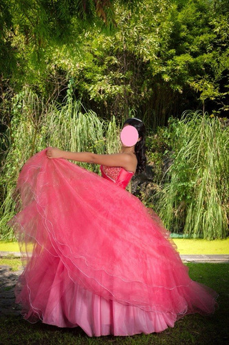 vestido xv años coral