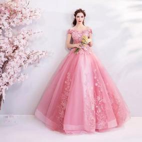 Vestido De Xv Años Color Rosa Coral Vestidos Mujer