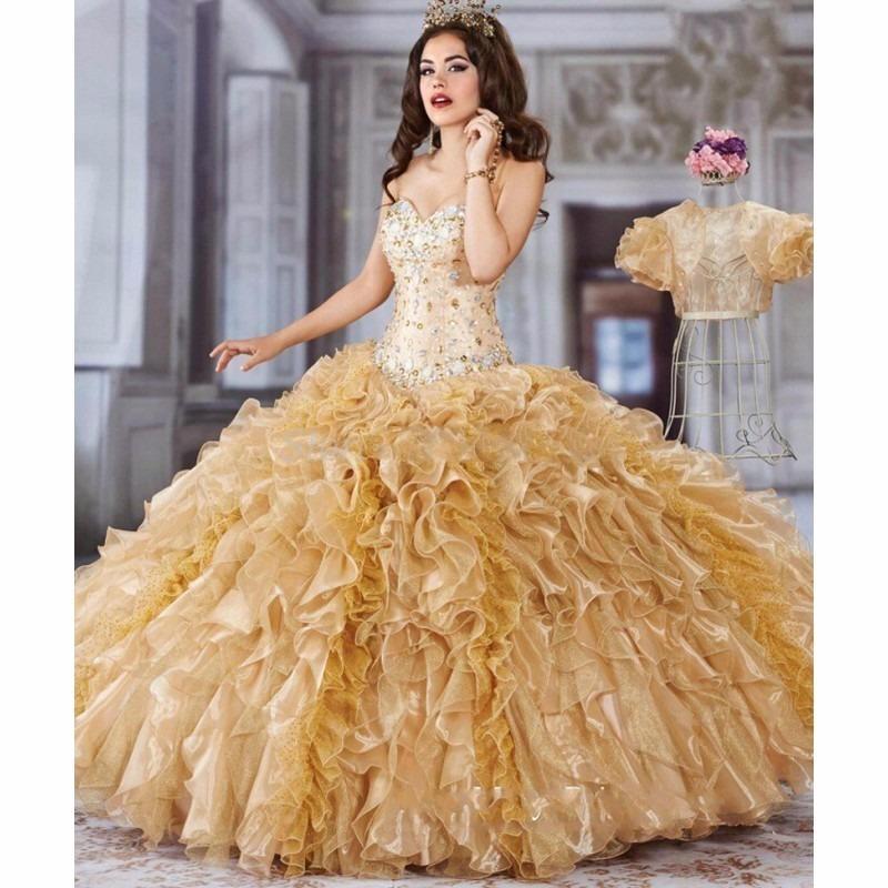 61b3ad50d vestido xv años dorado confeccionado por diseñadora oferta¡¡. Cargando zoom.