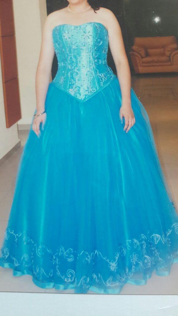 Vestidos de 15 azul turquesa