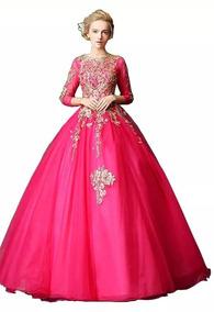 8d7c336da Vestido De Xv Años Color Dorado Mujer Vestidos 15 Anos - Ropa ...