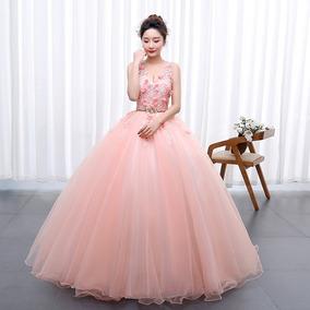 Vestido Xv Años Quinceañera Princesa Flores Tul Y Encajes