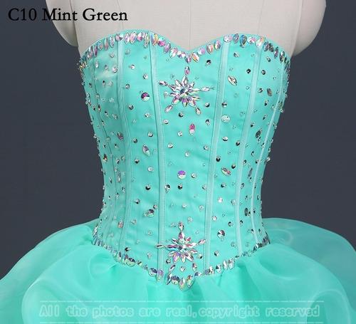 vestido xv años quinceaños 11 colores pedreria