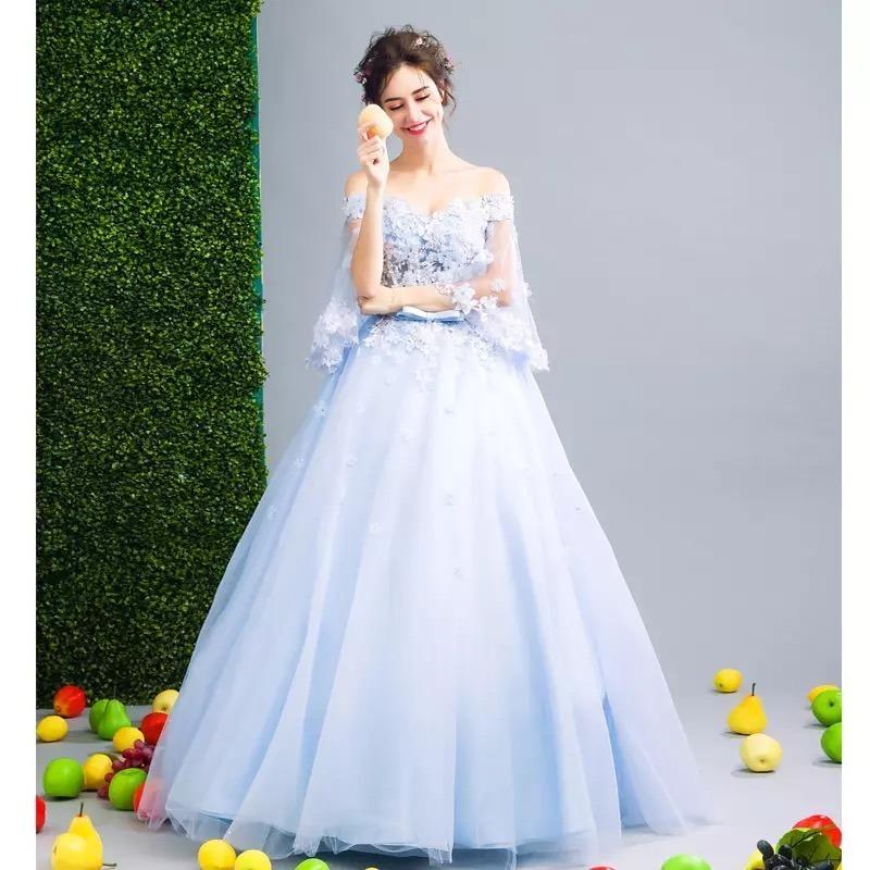 d10115605 vestido xv años quinceaños 15 años nuevo hermoso encaje azul. Cargando zoom.