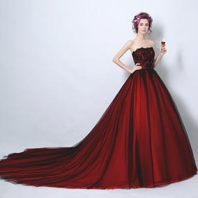 45a3155788 Vestido Xv Años Rojo Vino Vintage Envio Gratis ! Z-0084