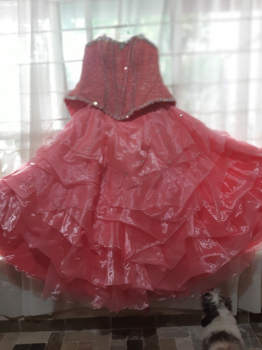 vestido xv años rosa.