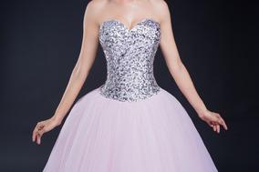 Vestido Xv Años Rosa Con Plata Envió Gratis Q 30287