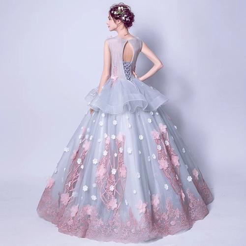vestido xv años rosa envió gratis ! q-026620