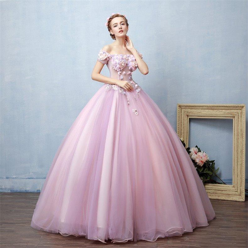 06cf55d24 Vestido Xv Años Rosa Flores Envió Gratis ! Q-1800320008 -   3