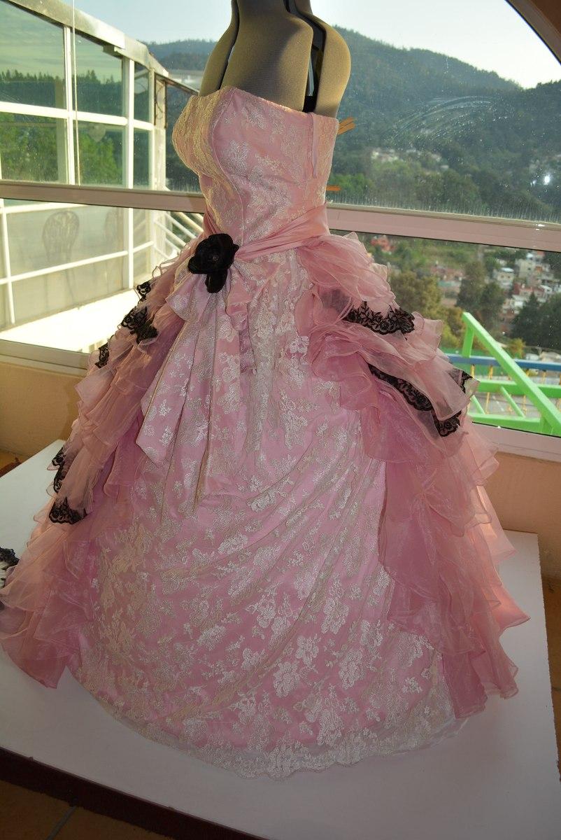 Vestido Xv A 241 Os Rosa Vintage O Epoca Accesorios Xl