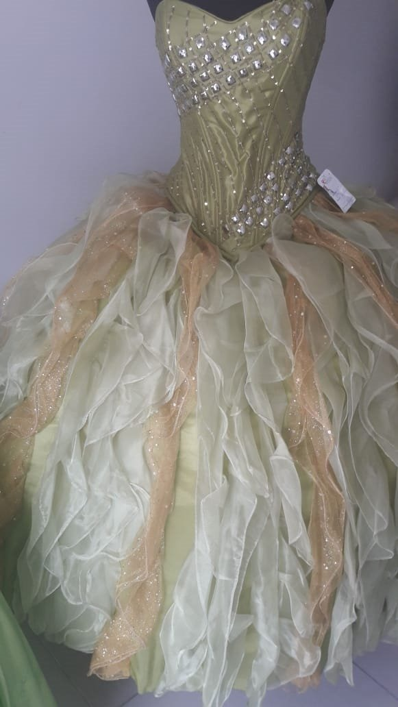 Vestido verde manzana xv