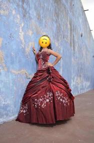 Vestido Xv Años Vino De Diseñador