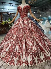Vestido Xv Quinceañera Quinceaños 15 Años Alta Costura Rojo