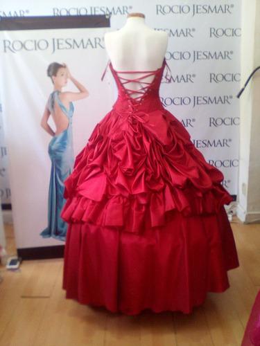 vestido xv rojo