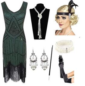 6b8af08e6f Vestido De Gala Para Fiesta Baile Color Azul Marca Meilun · Vestido Y  Accesorios Fiesta Gatsby 1920s Color Verde Esrtyer
