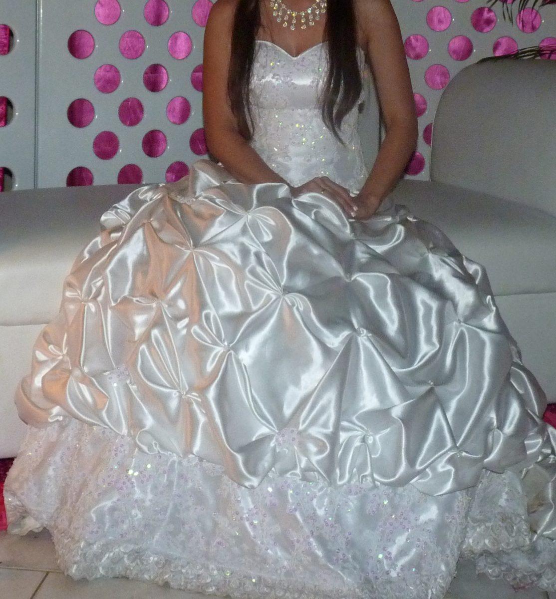 Vestido Y Velo De Novia Usado - Bs. 12.500.000,00 en Mercado Libre