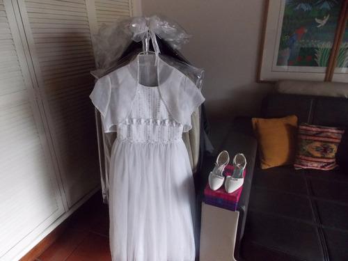 vestido y zapatos para primera comunion