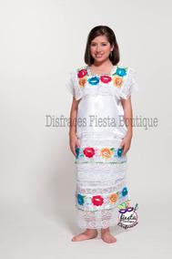 0a2ee1d2fc Vestido Yucatan Regional Mexicana Yucateca Huipil Disfraz En