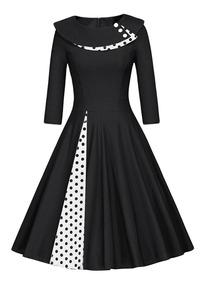 Vestido Zaful Estilo Vintage Otoñoinvierno Para Mujer