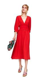 Zara De Rojo Mercado Argentina Vestidos Mujer Libre En YyIg76fmbv