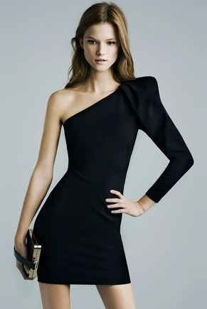 Vestido negro corto zara