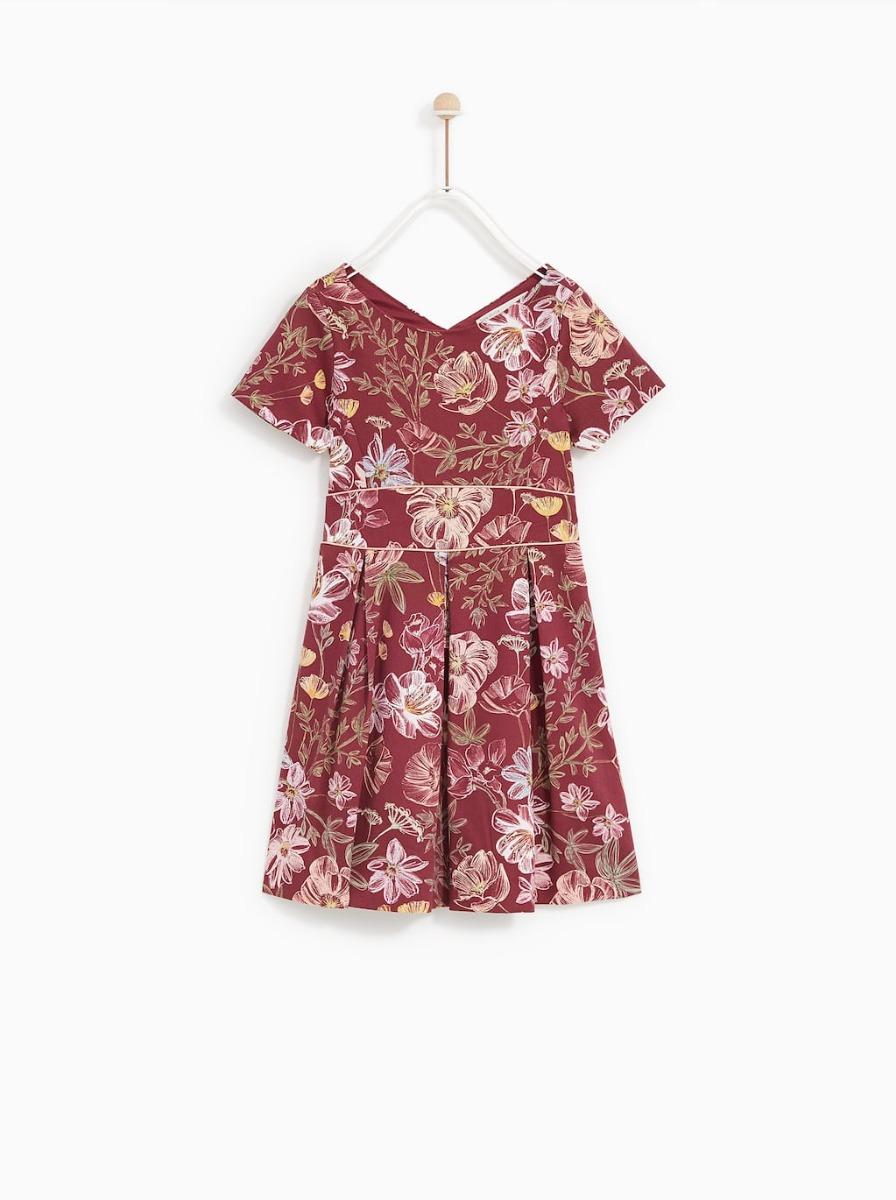 b3c1fe2a1 vestido zara de cuello redondo con manga corta niña 12 años. Cargando zoom.