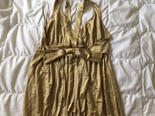Vestido Corto100 Dorado 00 Zara M Talle lJ5uTF13Kc