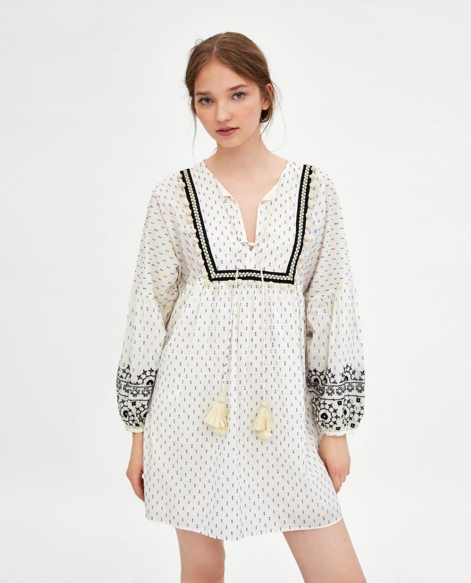 Bordado Rustico2 Zara 00 Libre Mercado Vestido 415 Plumeti En 8m0OyvnNwP