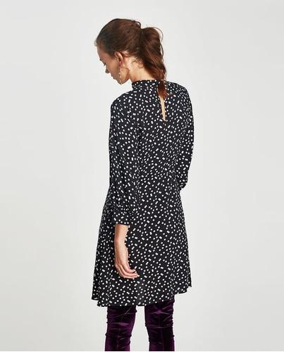vestido zara polka dots esta temporada