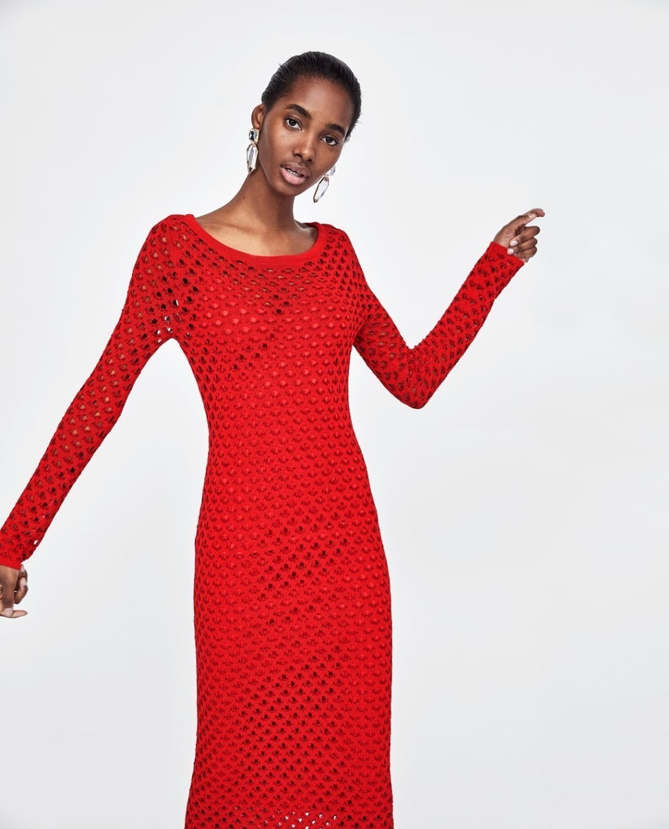 04268e9047 2 Temporada Mercado Rojo Zara En Libre 78 Vestido Nueva 923 Hilo IFxXnw4