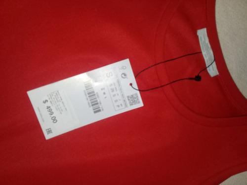 vestido zara rojo, hombros caidos!!! mitad de precio