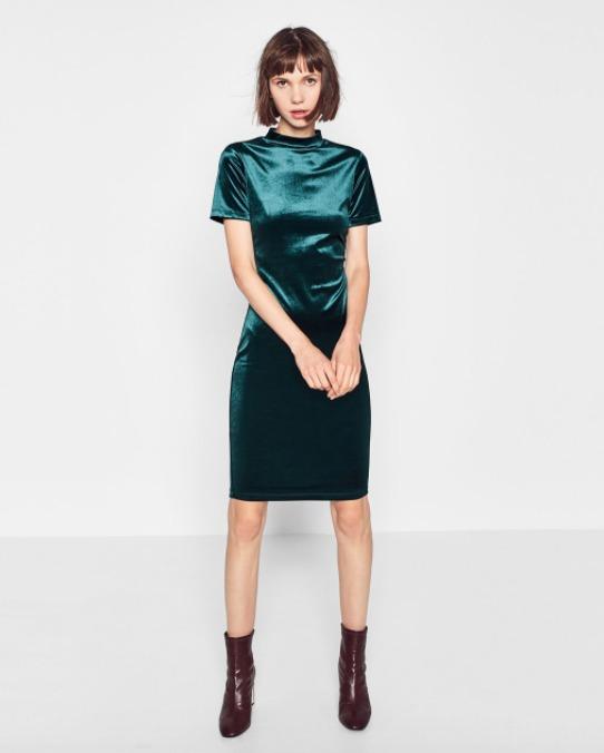 Vestidos verdes de zara