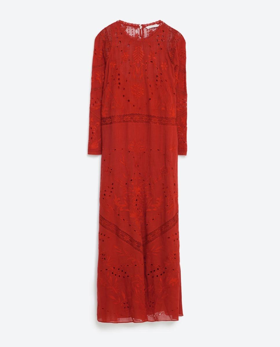 Vestido Zara Trf Bordado Modo L #709