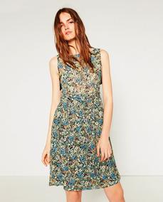 Vestido Zara Trf G Encaje Floral #353