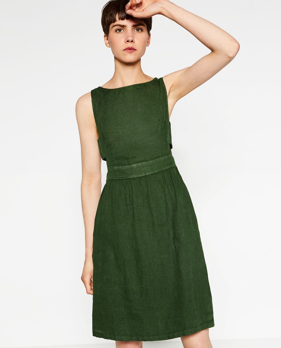 Vestidos verdes en zara