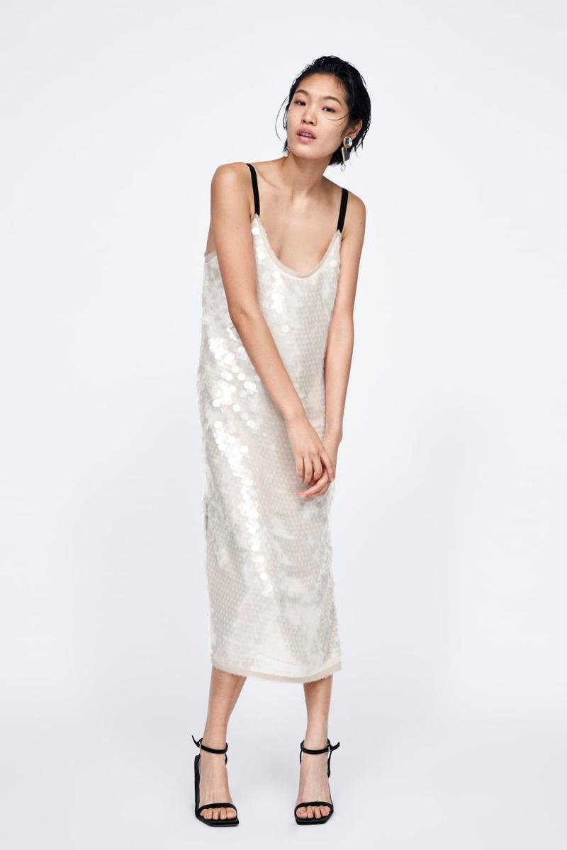 Vestido Zara Woman Studio S M Lentejuelas 704