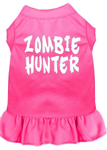 vestido zombi cazador impresión pantalla brillante rosa xl