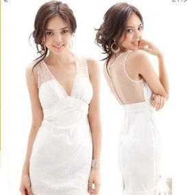 b2fb1e05b Vestidos Mini Moda Evento Especial Moño Espalda Tipo Dos · Vestido/bluson  Moda Asiatica Tipo Encaje Coqueto Xs Nuevo