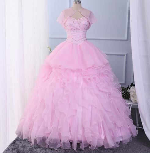 vestidos 15 años, corset bordado en pedreria-personalizado